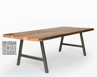 Charmant Modern Harvest Wood Conference Table With Reclaimed Wood Top And Steel A  Frame Legs In Choice Of Style, Size And Finish