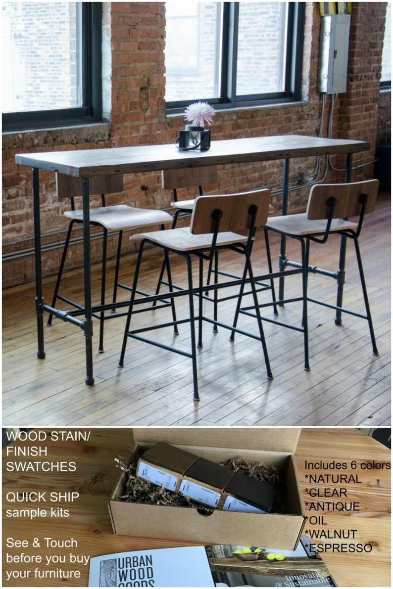 Terrific Counter Height 36H Dining Table With Pipe Legs And Unfinished Reclaimed Wood Top Table Comes With A Complimentary Jar Of Mild Wax Sealant Download Free Architecture Designs Rallybritishbridgeorg