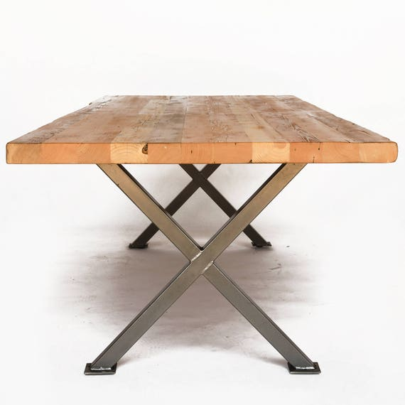 Modern Farmhouse Dining Room Table Made With Reclaimed Wood Etsy