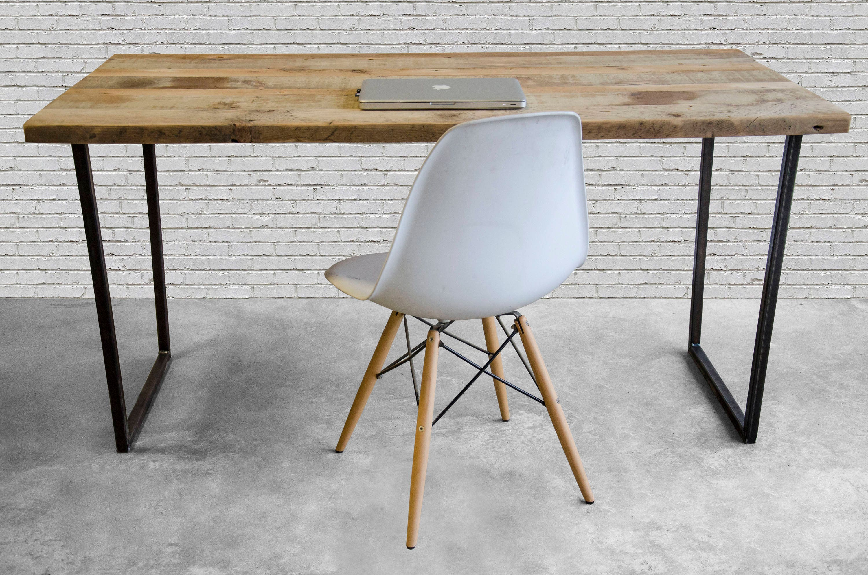 "Urban Wood Desk, Barnwood Desk, Farmhouse Desk. Sitting Height 49""H pic 49  or Standing Height 49""H pic 49, same price. Specify in order notes."