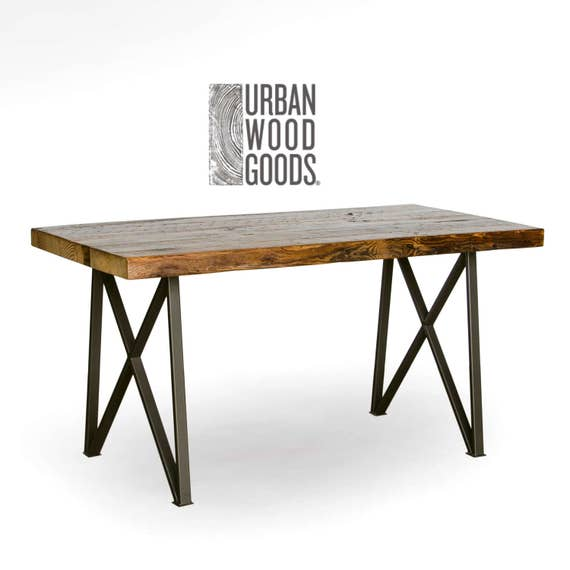 Genial Urban Wood Goods Dining Table With Reclaimed Wood Top And | Etsy