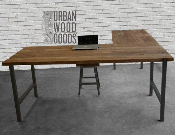 Reclaimed Wood Office Furniture Modern Wood DeskCustom L Etsy New Modern Wood Office Furniture