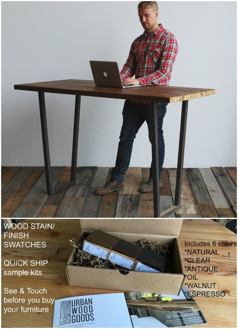 urban farmhouse standing work desk home office desk made of etsy rh etsy com standing work desk and dj booth standing work desk amazon