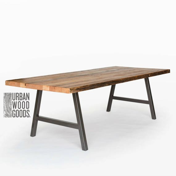 Reclaimed Wood Table, Rustic Modern Dining Table, Wood Dining Table. Choose  height, size and finish.