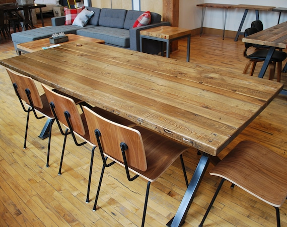 Farmhouse Wood Communal Table Office Table Conference Table Etsy - Farmhouse conference table