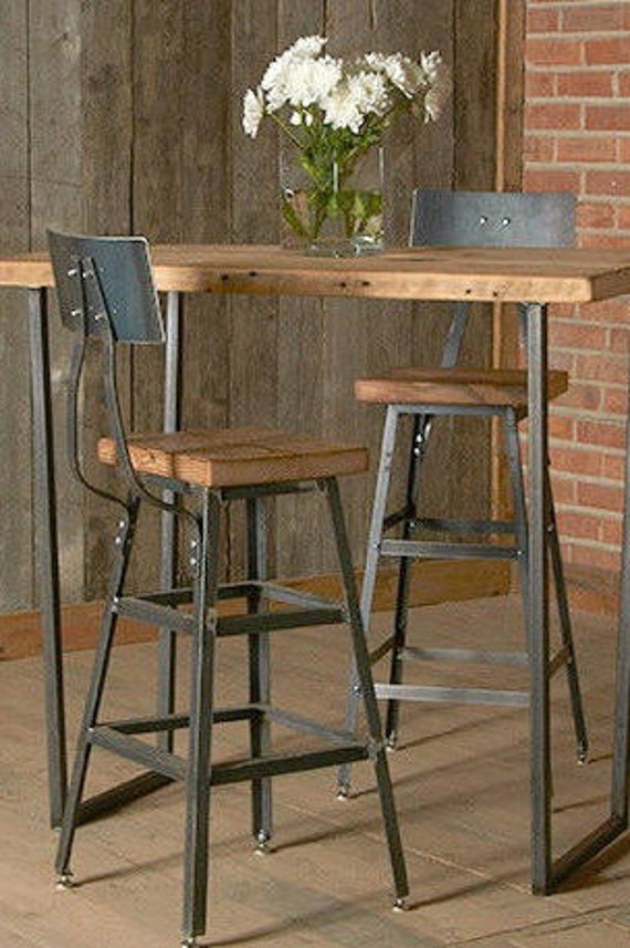 Awe Inspiring Counter Height Barn Wood Stool With Steel Back 1 25 Counter Height Stool With Back Your Choice Of Wood Finish Alphanode Cool Chair Designs And Ideas Alphanodeonline