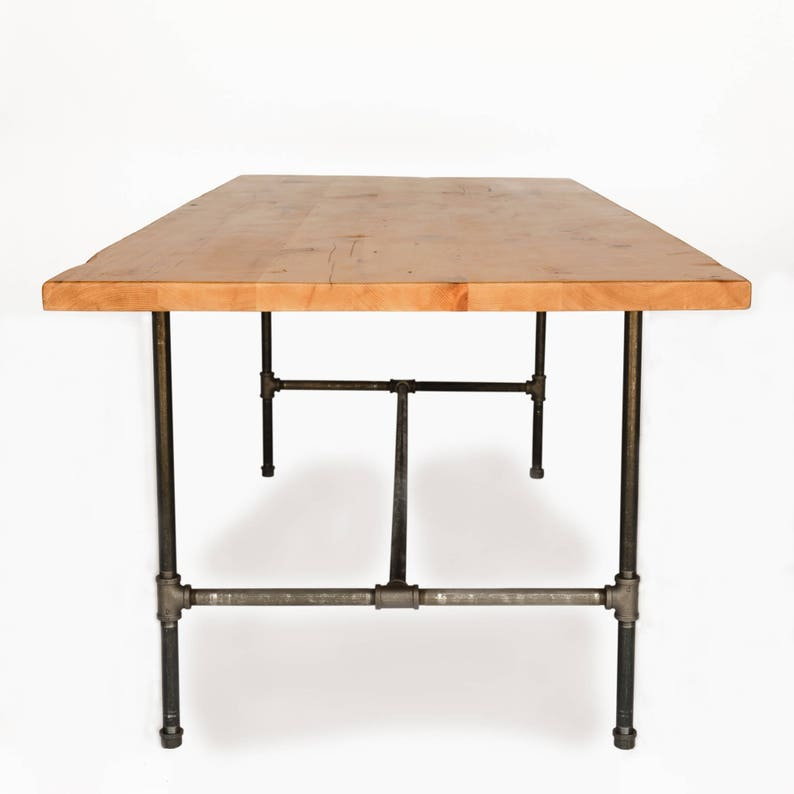 Counter Height Or Bar Height Table With Industrial Pipe Legs And Reclaimed Wood Top Choice Of Height Size And Finish