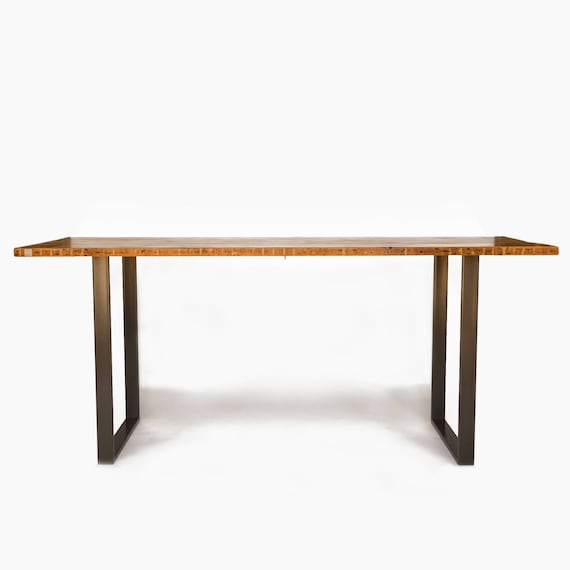 Bar Height Or Counter Height Bistro Table Made With Reclaimed Wood And  Steel Rectangular Base. Choice Of Size, Height, Thickness And Finish