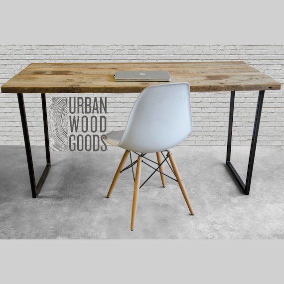 Modern Urban Wood Desk Reclaimed Wood Office Desk With Etsy Fascinating Modern Wood Office Furniture
