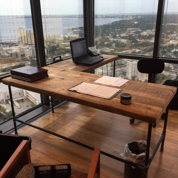 L Shaped Desk Corner Desk L Shaped Computer Desk Made With Etsy