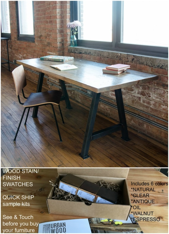 Plank Wood Home Office Desk Farmhouse Office Furniture Etsy