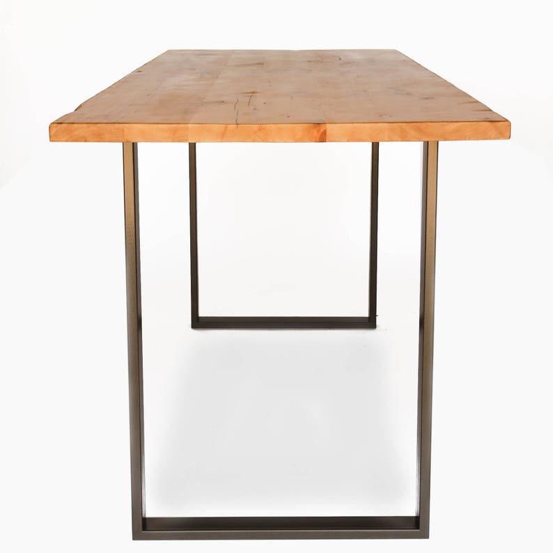 Office Kitchen Bar Table Simple Counter Height Bistro Table Reclaimed Breakfast Bar With Steel Pipe Leg Base Natural Wood Finish Choice Of Height Size And Finish 5695 5