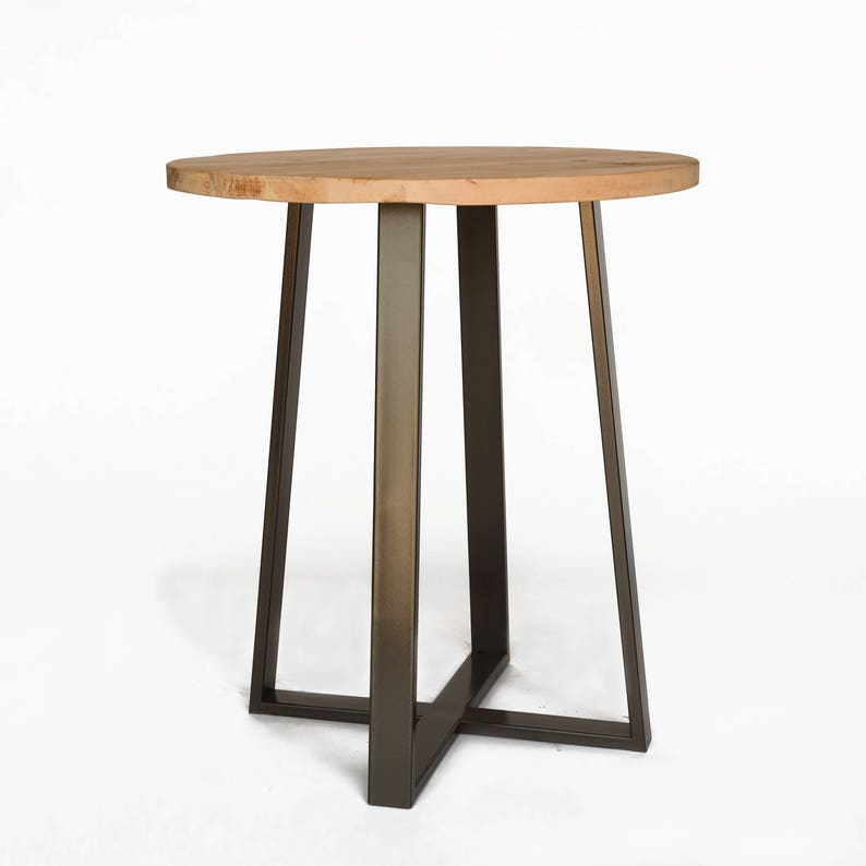 Delicieux Round Bistro Table, High Top Pub Table Made Of Reclaimed Wood And Steel  Pedestal Base. Choose Size, Height And Finish.