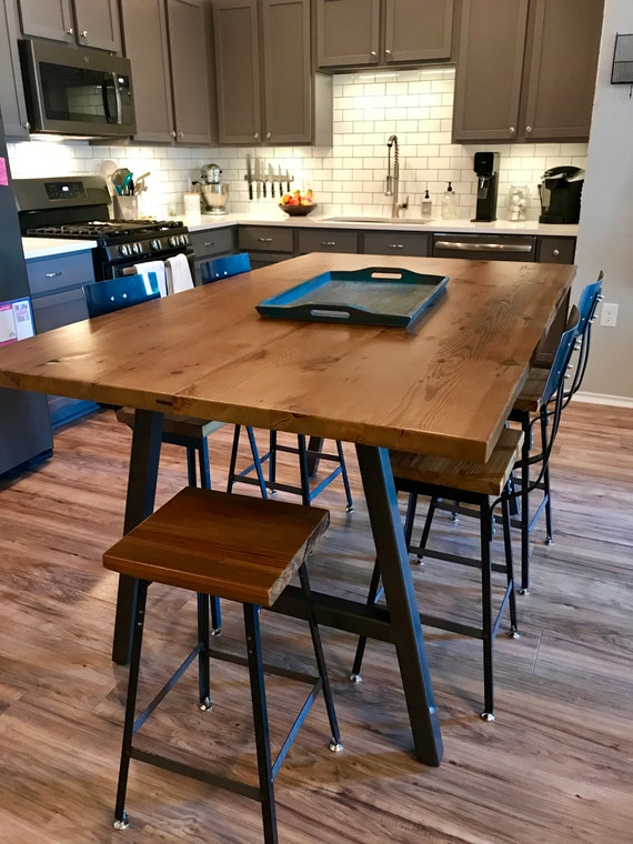 Superieur Urban Wood Goods High Top Bar Table Bar Height Table Counter | Etsy