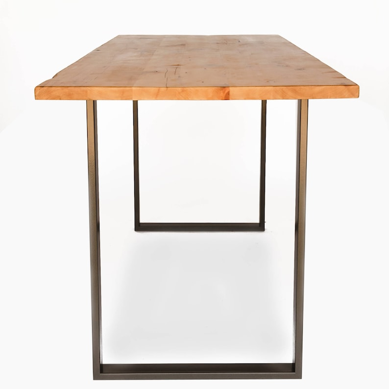 Solid Wood Counter Height Or Bar Height Dining Table U Steel Etsy
