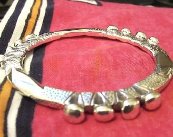 HEAVY FULANI design Sterling Silver Bangle no 1aa Chisseko Heirloom