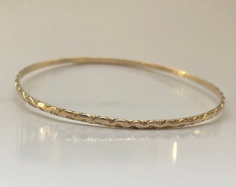 SALE 14K Solid Gold Kito's Special Sweetheart Bangle African Sophisticated  Ethnic Chic Reserved for Sugako