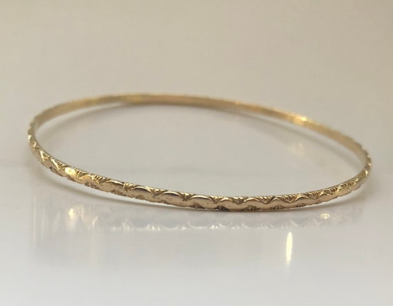 e4c32a9000de5 SALE 14K Solid Gold Kito's Special Sweetheart Bangle African Sophisticated  Ethnic Chic