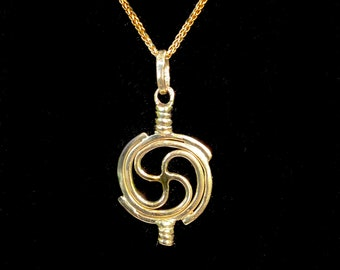 Price Drop! Custom Order for Taisha 14 K Solid Gold Universal Unity Pendant, Double Yin/Yang African symbol Total Love