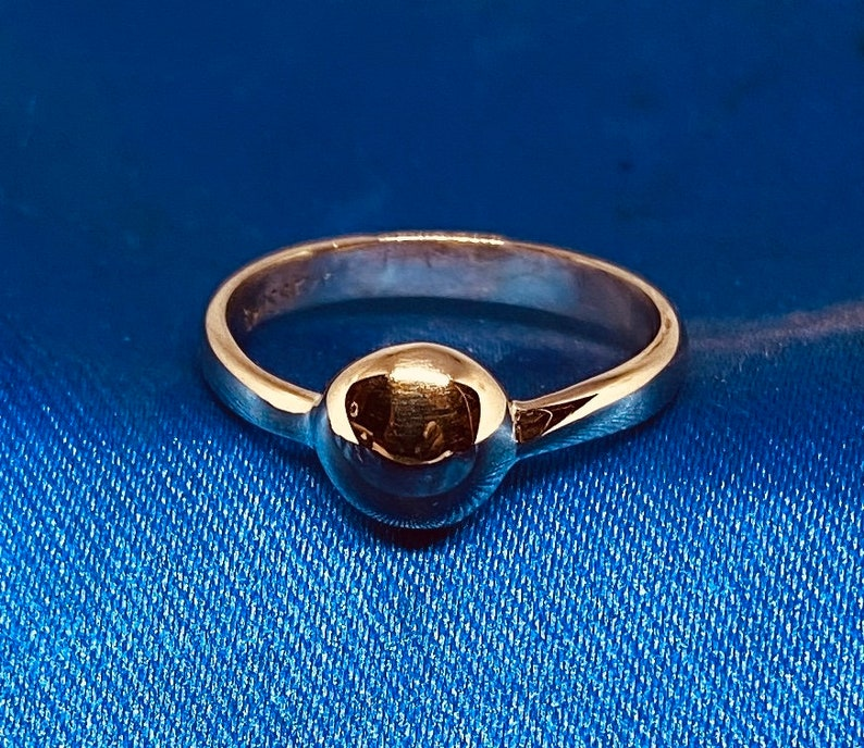 Moonchild/'s Fulani Special 14K Solid Gold African Fulani Plain Domed Ring