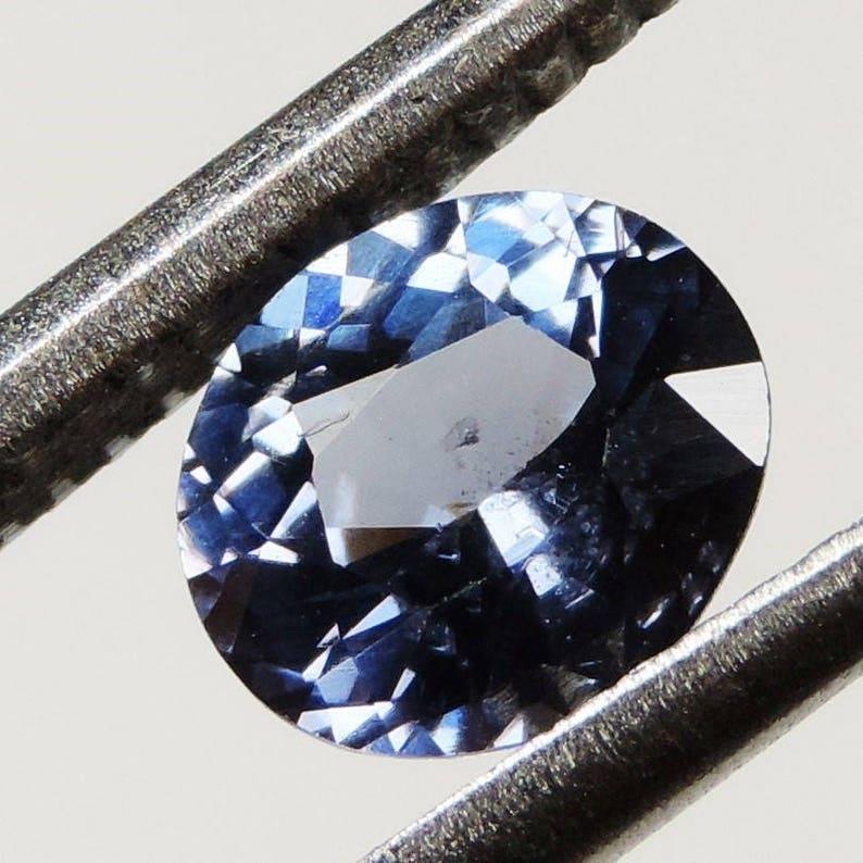 1.05 cts blue purple VVS spinel faceted oval cut sri lanka 09 image 0
