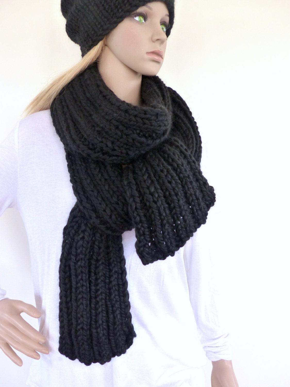 black grosse charpe foulard pour homme noir womens tricot. Black Bedroom Furniture Sets. Home Design Ideas