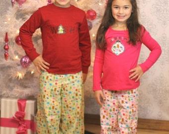Sweet Dreams pajamas - Ellie Inspired Pajamas PDF pattern - sizes 1-12