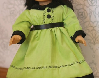 """Doll dress pattern with collar - Mini Holly PDF pattern - 15"""" and 18"""" doll size"""