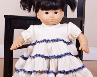 "Knit Tiered Twirl Doll Dress pattern - PDF sewing pattern sizes 15"" and 18"" Mini Cottage Girl"