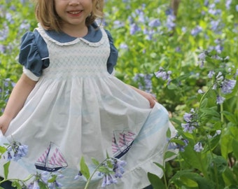 Evermore Pinafore Pattern  - Ellie Inspired Dress Pattern - Size 1 - 16 and matching doll