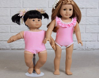 """Doll Swimsuit Leotard PDF 15"""" and 18"""" sizes"""
