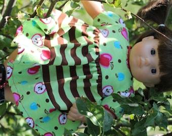 """Doll knit dress pattern - Mini Serenade PDF pattern - 15"""" and 18"""" doll size"""
