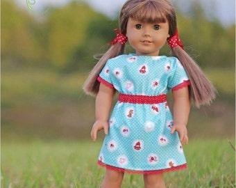 "Ellie Inspired Doll Dolman Dress - Mini Best Friends Dress PDF pattern - 15"" and 18"" doll"