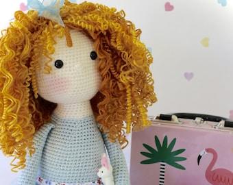 PDF Pattern for Curly Girls Doll - Crochet Amigurumi Doll Pattern