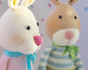 PDF Pattern for Merryweather & Earl  - Crochet Amigurumi Pattern Rabbit Bunny