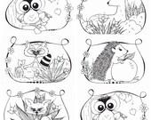 Kleurplaten Bosdieren.Items Op Etsy Die Op Kleurplaten Bosdieren 6 St Printable Lijken