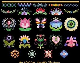 Scandinavian Machine Embroidery Designs Patterns