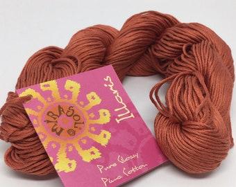 Pima Cotton DK Weight - Mirasol Illaris in 108 Terracotta