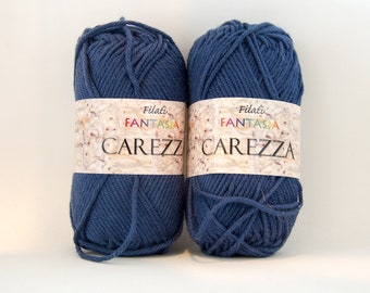 Worsted Navy Blue Cotton Yarn - Color #22