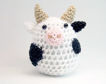 Crochet Cow, Toy, Amigurumi, Home Decor