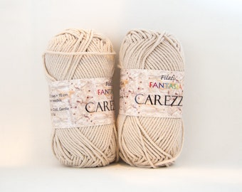 Worsted Dark Beige Cotton Yarn - Color #04
