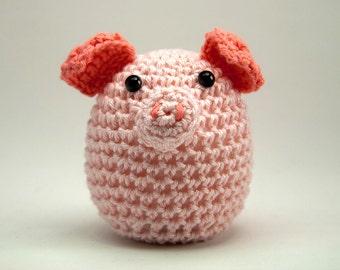 Crochet Pig Amigurumi, Home Decor, Pig Toy, Pig Decor