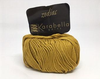 100% Mercerized Cotton Yarn - Karabella Zodiac in Gold 411