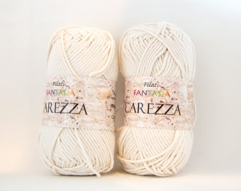 Worsted Light Beige Cotton Yarn - Color #03