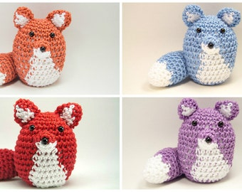Crochet Fox Amigurumi - Choice of Color