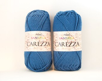 Worsted Blue Cotton Yarn - Color #23
