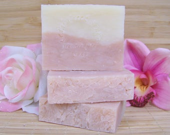 Sweet Honeysuckle Soap Olive Oil Cold Processed Soap All Natural and Vegan Soap Honeysuckle Flowers