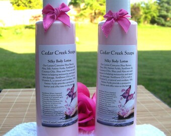 LOTION ~ Passionate Kisses type Body Lotion Silk Shea Butter Lotion 8 oz Bottle