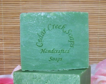 Spearmint Soap - Vegan Spearmint Cold Processed Soap ~ Vegan and All Natural Soap