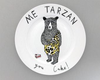 Me Tarzan side plate